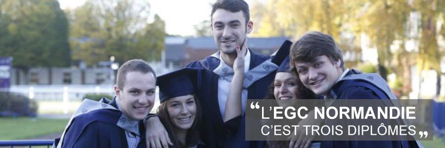 EGC Normandie c'est trois diplômes